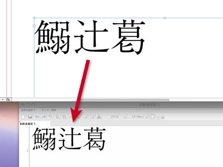 親字への字形変化の例