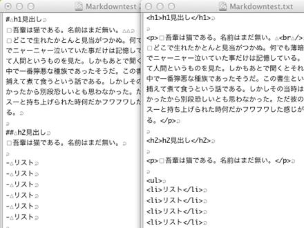 HTMLに変換された