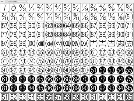 Adobe-Japan1-6にしかない文字の例