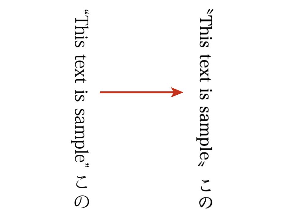 Kindleでは縦組みでのダブルクォートはダブルミニュートとして表示される