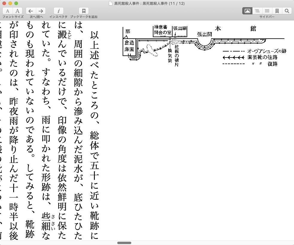 リフロー型電子書籍では紙の版面情報の再現は難しい
